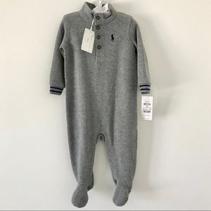 NWT Ralph Lauren Baby Boy Sweater Footie